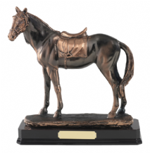 COPPER PLATED HORSE FIGURE
